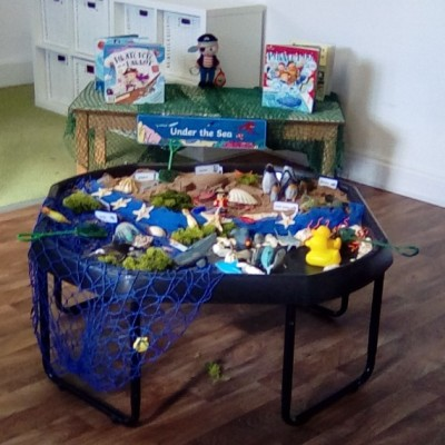 Pirate exploration play in the Little Hedgehog room
